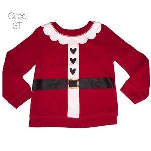 Circo Santa Clause Christmas Red Crewneck 3T